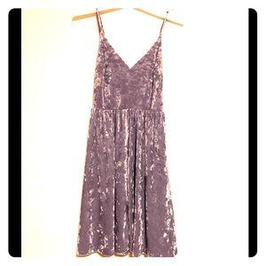 Vintage Violet Velvet Dress
